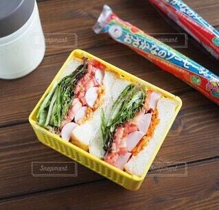 野菜モリモリサンドイッチの写真・画像素材[3743050]