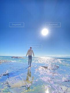 自然,海,空,屋外,ビーチ,波,水面,海岸,人物,人,江ノ島,鎌倉,江の島