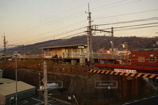 最寄り駅にての写真・画像素材[3113651]