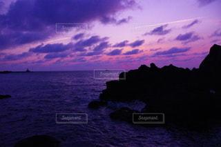 日本海の夕暮れの写真・画像素材[3120007]