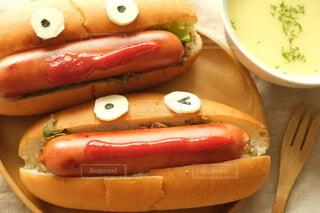 ランチ,楽しい,笑顔,美味しい,ソーセージ,ホットドッグ