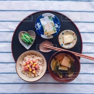 朝に食べたい和食定食の写真・画像素材[3902538]