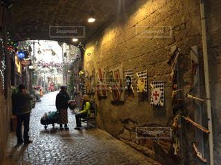 イタリアの小道の写真・画像素材[3115434]
