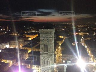 フィレンツェの夜景の写真・画像素材[3115428]