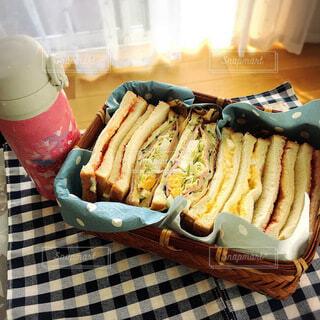 サンドイッチ弁当の写真・画像素材[3650765]