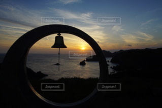 伊豆石廊崎海に沈む美しい夕陽の写真・画像素材[3440148]