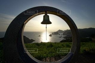 伊豆石廊崎海に沈む美しい夕陽の写真・画像素材[3440160]