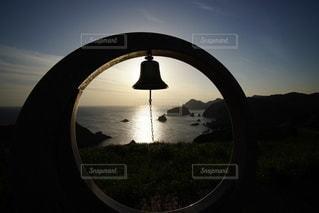 伊豆石廊崎海に沈む美しい夕陽の写真・画像素材[3440159]