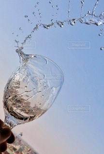 水色に水の写真・画像素材[3132917]