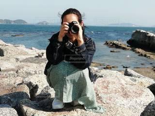 撮る私をとるの写真・画像素材[3454954]