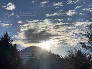 富士山,朝日,日の出,御来光,朝の風景,朝の太陽,自然輝