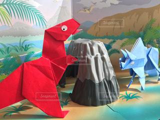 折り紙の恐竜の写真・画像素材[3145110]