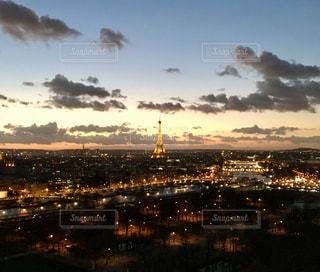 風景,空,建物,夜景,屋外,海外,夕暮れ,夕方,旅行,フランス,パリ,エッフェル塔