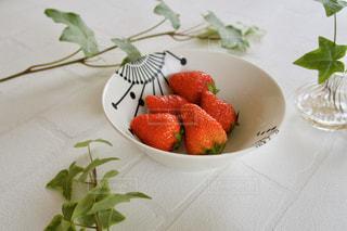 イチゴと葉の写真・画像素材[3219890]