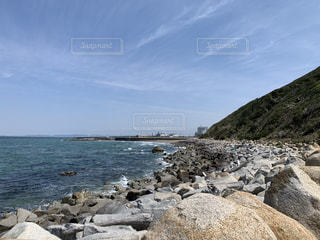 自然,風景,海,空,屋外,海岸,山,岩