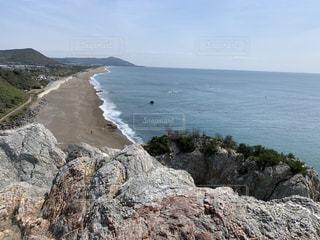 自然,風景,海,空,屋外,ビーチ,島,水面,海岸,山,岩,岬,山腹
