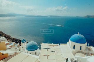 サントリーニ島の絶景の写真・画像素材[3580241]