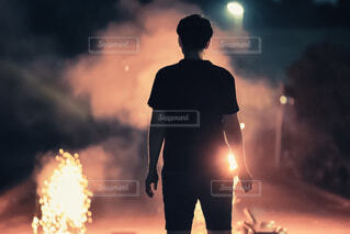 吹き出し花火の写真・画像素材[3619462]