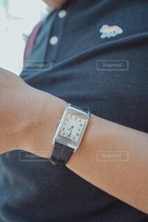腕時計のクローズアップの写真・画像素材[3783899]