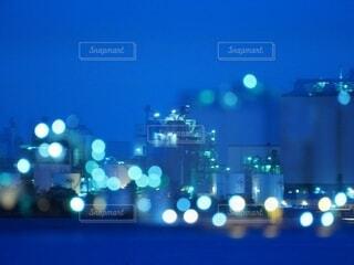工場夜景の写真・画像素材[4080033]