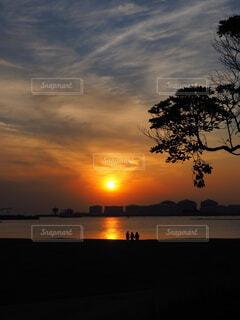 東京湾で夕陽を見るの写真・画像素材[4620785]