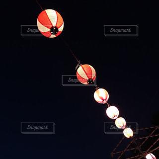空,夜,暗い,提灯,明るい,盆踊り