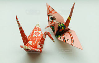 和紙の折り鶴の写真・画像素材[3156910]