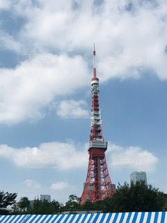 東京タワーと空の写真・画像素材[3240954]