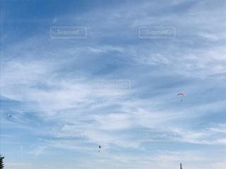 晴れた日のパラグライダーの写真・画像素材[3240951]