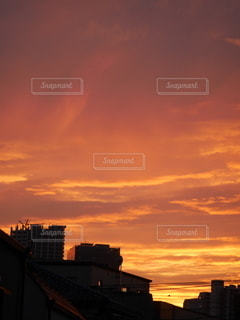 夕暮れの雲の写真・画像素材[3410304]