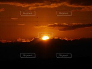 自然,太陽,朝日,オレンジ,正月,朝,お正月,日の出,早朝,新年,初日の出