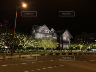 建物,夜,夜景