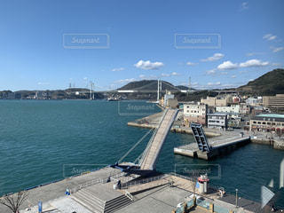 風景,橋,港