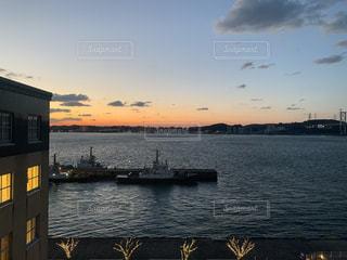 風景,海,船,港,海峡