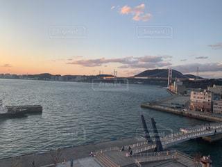 風景,橋,港,海峡