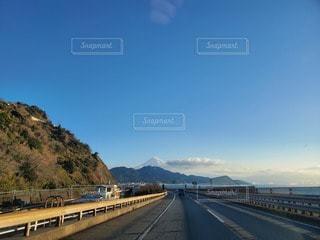 風景,空,富士山,高速道路