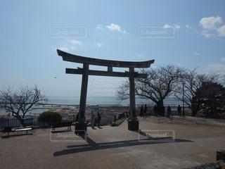 海,神社,鳥居