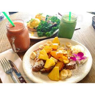 朝食,フレンチトースト,ハワイ,スムージー
