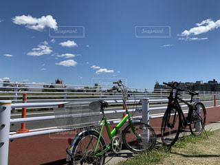 空,自転車,屋外,ホイール,クラウド