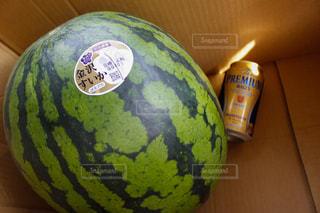 夏,スイカ,果物,ビール,西瓜,缶ビール,モルツ,プレモル,金沢すいか