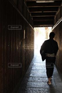 男性,風景,屋外,京都,男,小道,石畳,道,人,浴衣,和服,小径