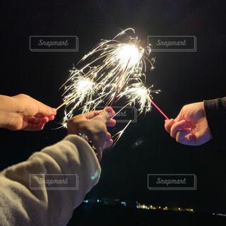 自然,花火,人,炎,火,明るい,友達