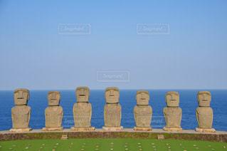 サンメッセ日南のモアイ像の写真・画像素材[3265662]