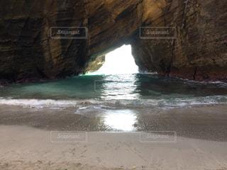自然,水面,海岸,洞窟,伊豆,入江,自然なアーチ
