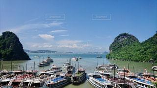 風景,海,空,屋外,船,水面,世界遺産,旅行,港,ベトナム,ハロン湾,日中