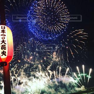 屋外,花火,花火大会,景観,日本一,長岡