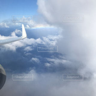雲,飛行機,虹,旅行