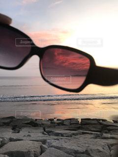 海,サングラス,夕焼け,景色