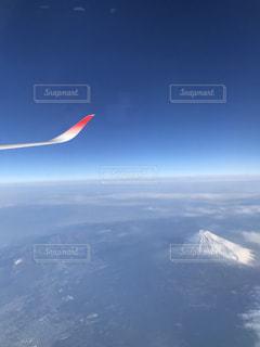 富士山,飛行機,飛ぶ,フライト,翼と富士山