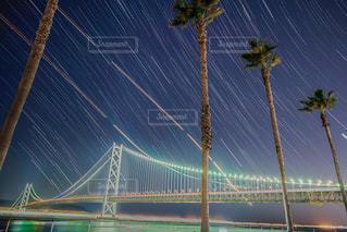 風景,空,夜,橋,夜景,星空,星,神戸,吊り橋,明石海峡大橋,canon,明石大橋,アジュール舞子